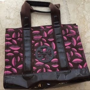 Tory Burch Lip Pattern Medium Tote Bag